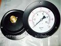 De acero negro freón medidor de presión/manómetro con la brida hacia atrás