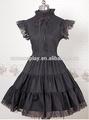 sıcak satış pamuk siyah dantel serseri lolita elbise Halloween parti kostüm yılbaşı uzun elbise güzellik