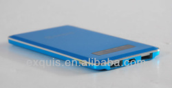 2014 newest fashion factory price Li-polymer Battery Mobile Charger Slim card size Power Bank 5000 mAh