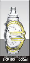 Hot sale high quality shining crsytal enpty whiskey glass bottle 500ml(glass factory)