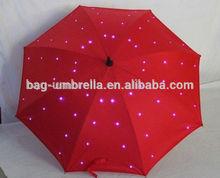 High quality and innovative design led umbrella manual open led umbrella factory