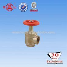 "2.5"" American Thread Right angle fire hose valve female thread casting brass landing valve NPT thread fire hydrant valve"