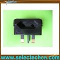Più caldo 5 amp eur 3 pin uk convertitore adattatore se-cp1