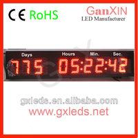 Large IP65 outdoor led temperature digital clock