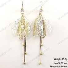 Beautiful lucite fashion earring inlay