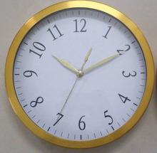 12 inch metal wall clock gold frame decorative wall clock spcial dial design
