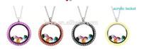 30mm round shape screw open acrylic Floating Locket pendant , plastic eco-friendly lockets