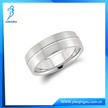 New Design Single Wedding 925 Sterling Silver Ring Plated Platinum