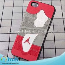 Unique NBA Air Jordan series silicone shoe print case, silicone cover case for iPhone 6