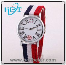 Fashion sport watch stainless steel watch case 5ATM water resistant nylon watch
