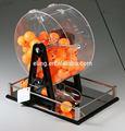 Máquina de bingo( máquina de lotería) manual de acrílico de la jaula del bingo