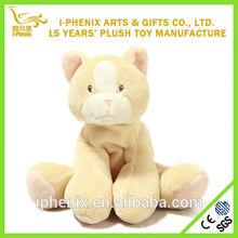 Custom Handmade Yellow Cat Stuffed Baby Plush Toy Tourist Souvenir Wholesale
