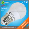 A45 e27 3w warmwhite dimmable led bulb lights