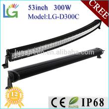 53inch 300W 4x4 Curved Cree Led Light Bar,Off Road Working Light,UTV,ATV Bar Light