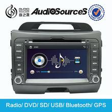 car radio for kia sportage 2012 with GPS navigation system bluetooth DVD SD USB phonebook steering wheel control