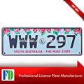 Australia del sur- la rosa estado de licencia/número de la placa, a medida del coche de licencia de la placa de aluminio