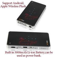 Professional Q6 200lumens mini Projector Built in 5000mAh Li-ion Battery for iPhone6 Mini Projector Support HDMI FHD VGA
