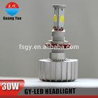 Hot sale!auto led car cob headlight 30w