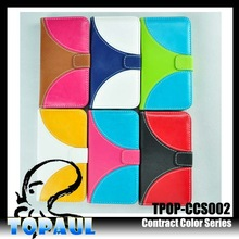 2014 Hot sale fancy assorted colors with book style leather case for mobile phone