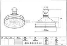 "CS1042 4"" Romantic 7 Colors LED Light Bathroom handle water saving Shower Head"