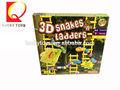 los niños 3d las serpientes escaleras de interior las instrucciones de los juegos de tablero