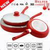 2014 TV Advertising Deep Fry Pan White Ceramic Coating Fry Pan