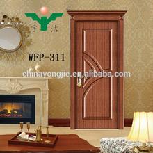 Yongjie portes société hot vente conception pour la turquie mdf porte pvc