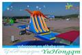 adultos diapositivas inflables del agua de la piscina con alta calidad y la venta caliente de nuevo 2014 comercial de diseño