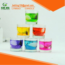 Fashion frosted glass candle
