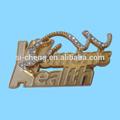 Décoration de badges en émail métal/ badges en tige de métal doré