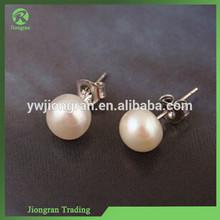S24 Pearl Silver jewelry stud earrings 925 sterling silver jewelry wholesale silver earrings balls