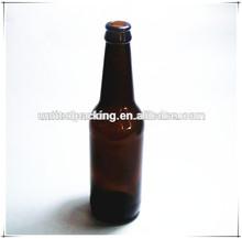 amber glass beer bottle