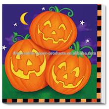 Halloween Party Supplies Halloween Tableware Small 25cm/10inch Disposable Party Napkins / Serviette Orange Pumpkins