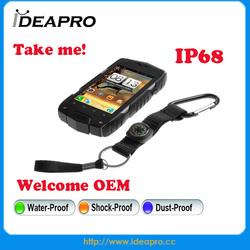 2014 High grade waterproof shockproof smart phone dual core mtk6572 smart phone dual sim smart phone