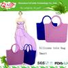 2014 spring summer Women Silicone Handbag Purse Rubber Bag