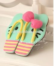 2014 carton hello kitty beach and indoor Butterfly Knot eva slipper
