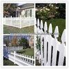 white metal picket fence
