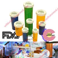 Child safety Cannabis Rx Snap cap Plastic Vials Prescription Push and Turn Lid Vial