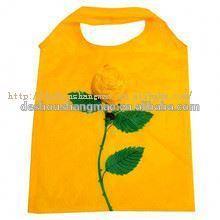 handle style gift super flat folding nylon with nylon shopping bag