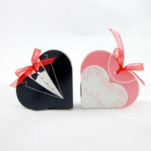 heart shape groom and bride wedding sweets packaging candy box