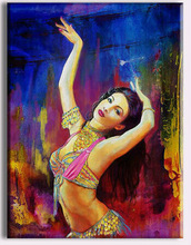 Beautiful indian nude painting of women