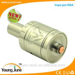 Wholesale factory price adjustable airflow ss/gold/black big vapor rrda vape jam