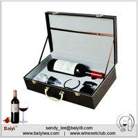 Wholesale Unique 1 Bottle Leather Wine Carrier Case