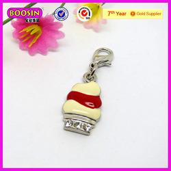 Cheap bulk jewelry ice cream pendant enamel jewelry (21017)