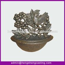 Decorative newly antique cast iron bird bowl
