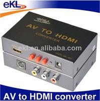 AV to HDMI converter,S-video + RCA AV input, HDMI output,Support audio input