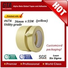 Custom make 5.4 mil slitting self adhesive tape paper