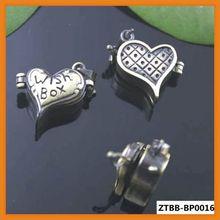 Top sale Vintage Antique Bronze Brushed Love heart Prayer Wish Box Photo Locket Frame Pendant Bulk Wholesale ZTBB-BP0016
