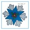Christmas holly, Plastic christmas deco, plastic snowflake ornament, Plastic snowflake
