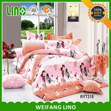 100% cotton printed cartoon new bed sheet design/cheap bed sheets/handmade bed sheets design